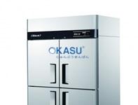 Tủ đông và mát 4 cánh Inox OKASU KRF45-4