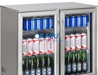Tủ làm lạnh quầy bar mini 2 cánh kính OKASUSC-208FS