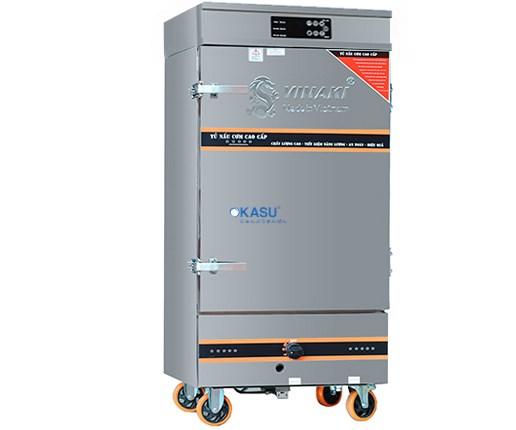 Tủ Cơm 12 Khay Kết Hợp Ga - Điện Điều Khiển Cảm Ứng OKASU VNK12K-GDB
