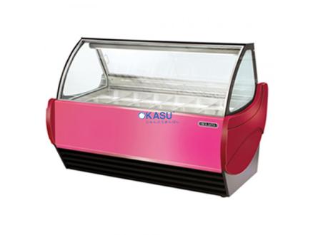 Tủ trưng bày kem Okasu GS12-R
