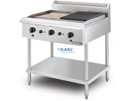 Bếp nướng chiên bề mặt dùng gas BERJAYA CRB2BFS-17