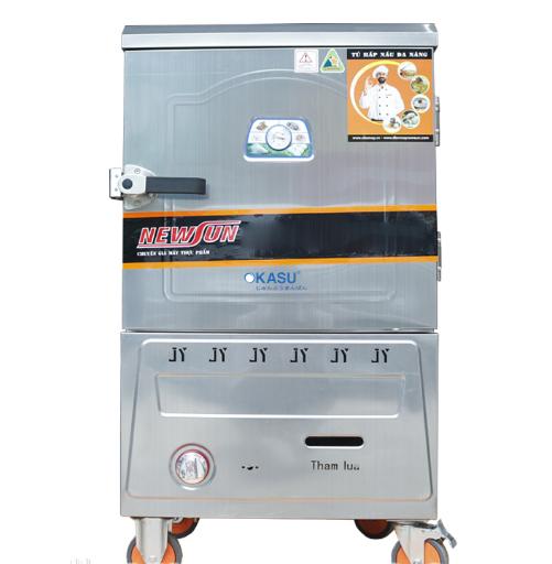Tủ nấu cơm bằng Gas 6 khay nhập khẩu (18kg gạo/lần) KN-THTQG6K