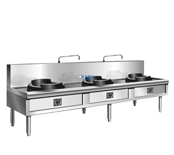 Bếp xào 3 họng công nghiệp TC BX/3H20