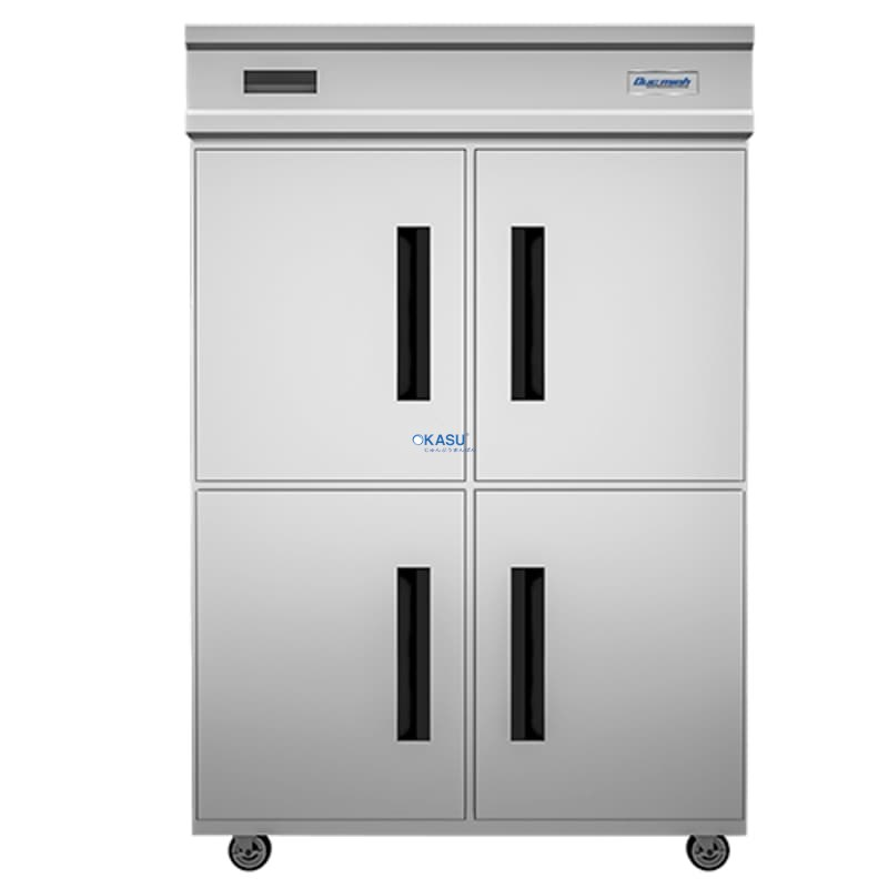 Tủ mát 4 cánh inox DMQ.4I1100 dạng đứng