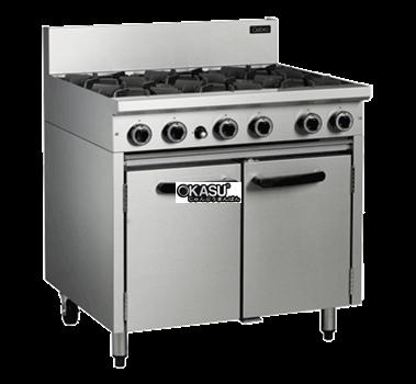 Bếp âu 6 đầu kèm Cabinet OKASU OKA-6D