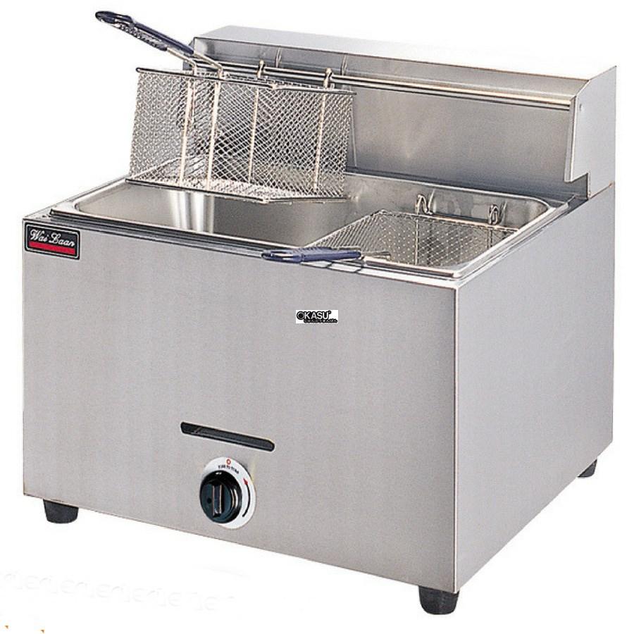 Bếp chiên 1 hộc 2 giỏ OKASU EF-73 (Gas)