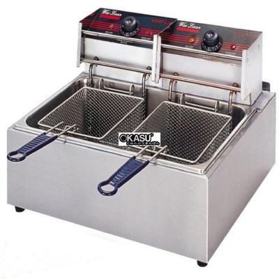 Bếp chiên nhúng 2 hộc 2 giỏ OKASU EF-89 (Điện)