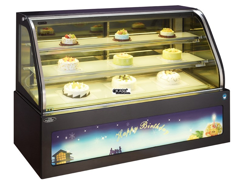 Tủ trưng bày bánh kem OKASU OKS-G608FSL