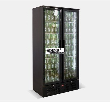 Tủ lạnh quầy bar mini 2 cánh kính OKASU SC-458F