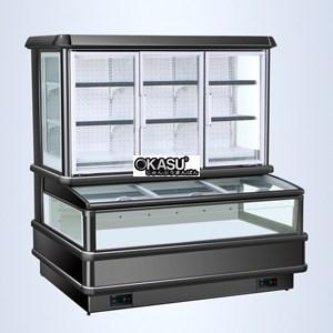 Tủ cửa kính làm mát bằng không khí OKASU OKS-SG16SE
