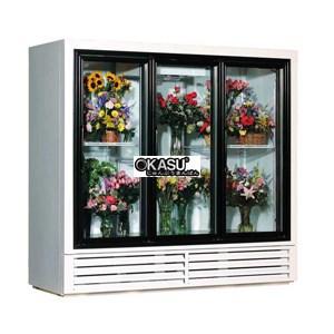 Tủ bảo quản hoa tươi 3 cánh kính