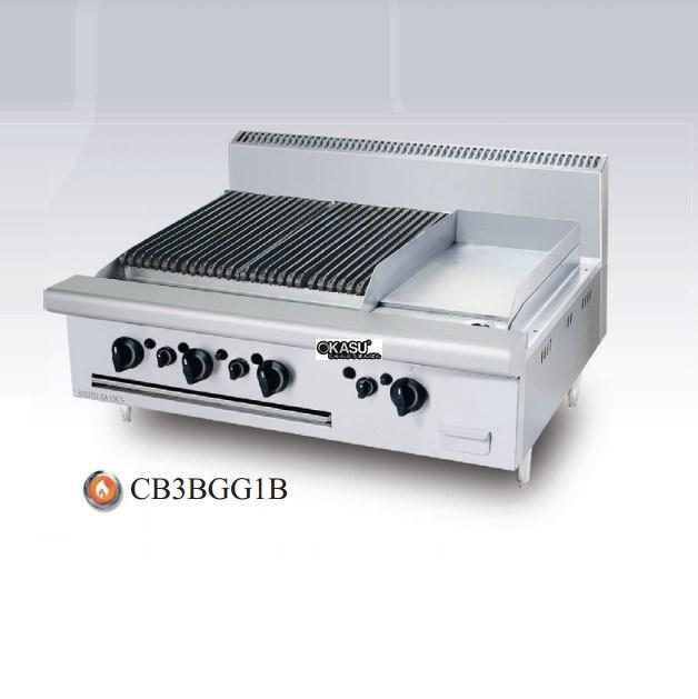 Bếp nướng chiên bề mặt dùng gas Berjaya CB 3B GG1B