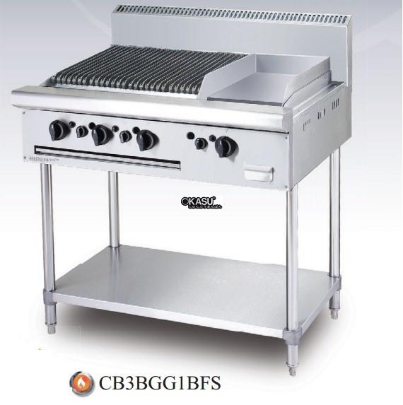 Bếp nướng chiên bề mặt dùng gas Berjaya B 3B GG1B-FS