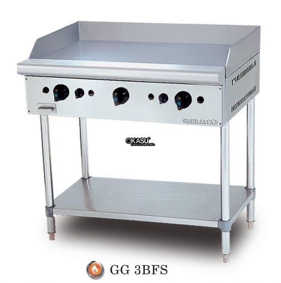 Bếp chiên bề mặt dùng gas chân đứng Berjaya GG 3BFS