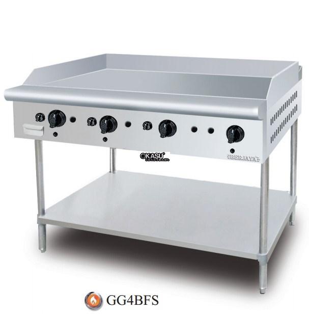 Bếp chiên bề mặt dùng gas chân đứng Berjaya GG 4BFS