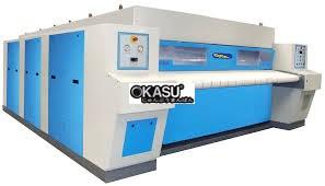 Máy là công nghiệp lô khổ 3m 3 con lăn Powerline PFC-48X120-3