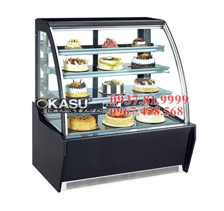 Tủ trưng bày bánh kính cong  OKASU BX -1200HQF3