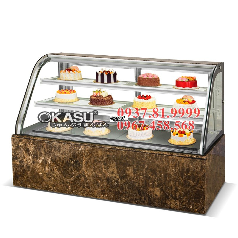 Tủ trưng bày bánh kính cong  OKASU BX- 1200SHF3