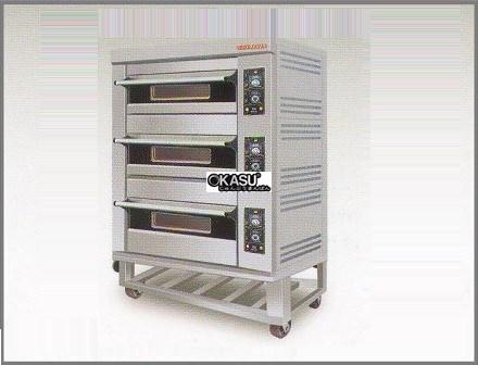 Lò nướng gas 3 tầng Berjaya BSP-G180-3N (60Kg)