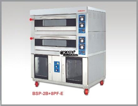 Lò nướng điện 2 tầng 8 khay ủ bột Berjaya BSP-2B+8PF-E