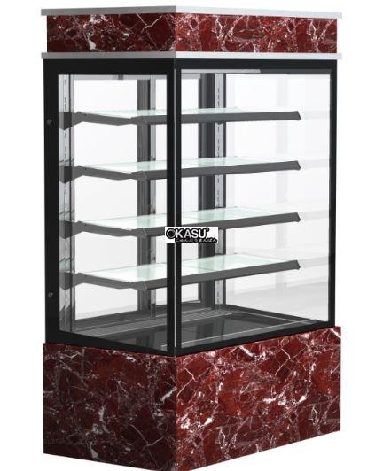 Tủ trưng bày bánh góc năm tầng OKASU Q770V-M