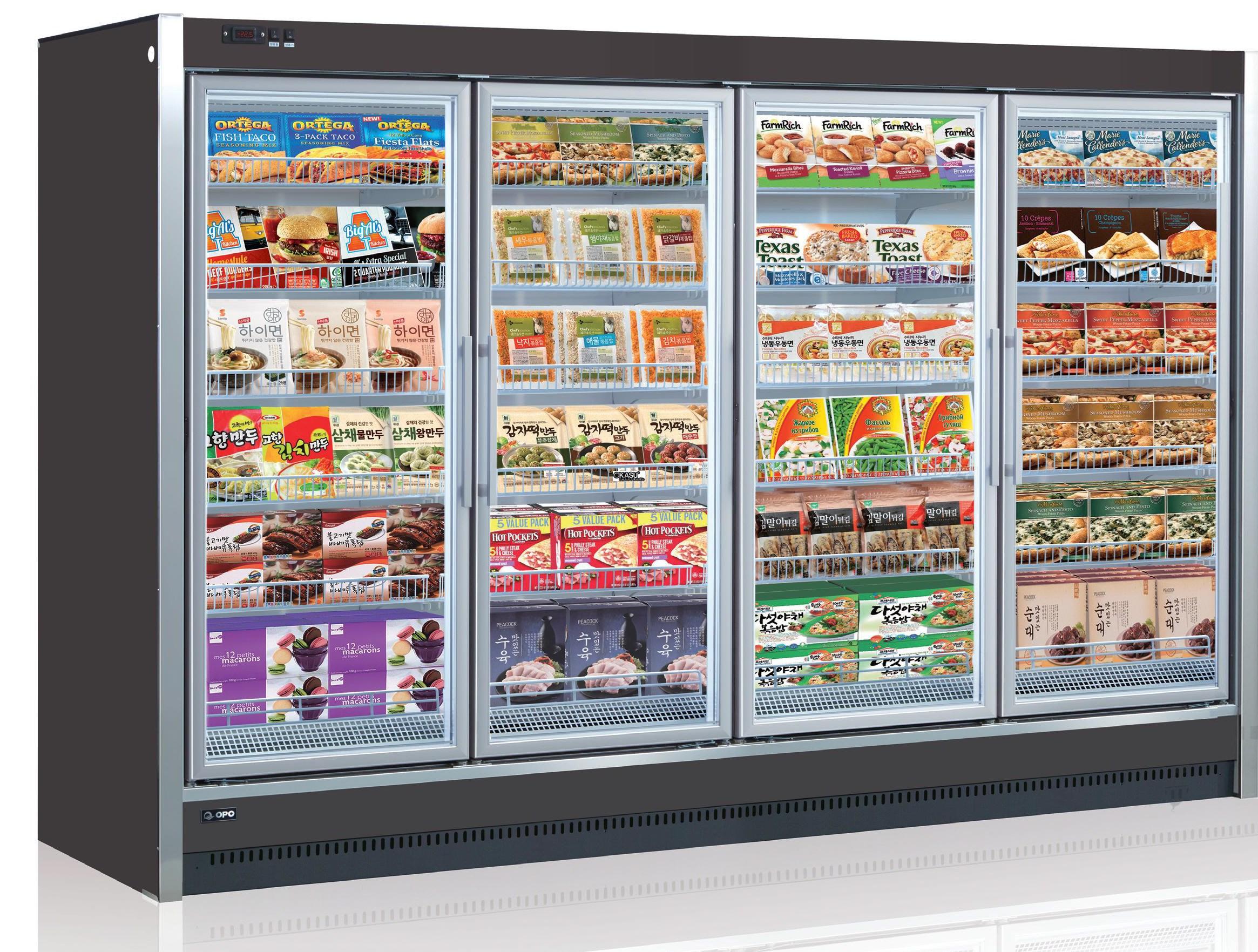 Tủ đông trưng bày thực phẩm nhiều ngăn Reach-in OPO SMR5G2-04WD
