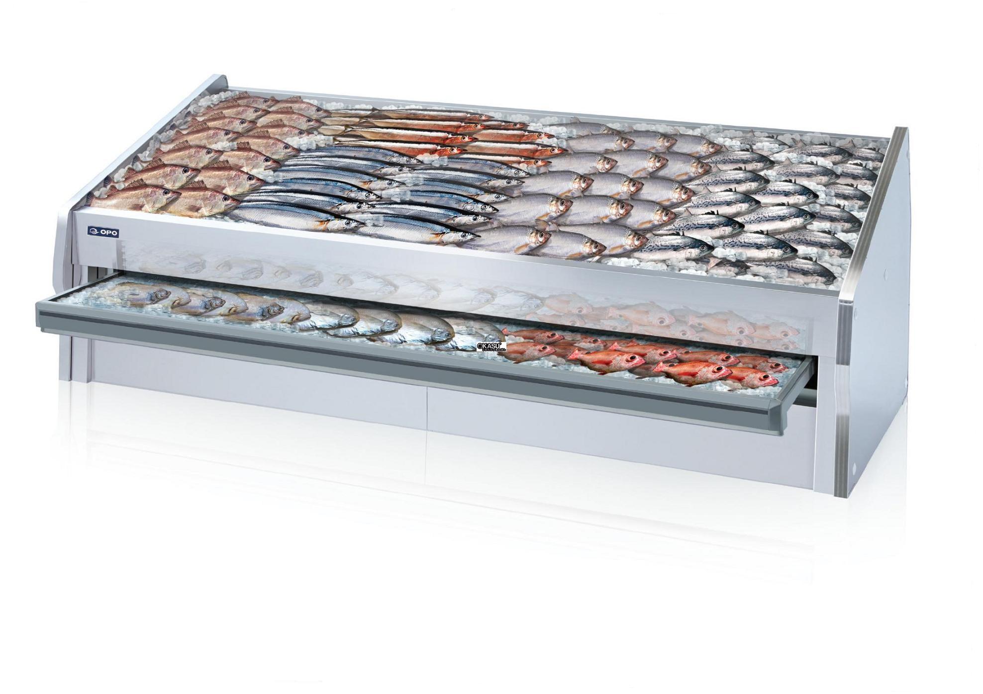 Tủ trưng bày hải sản có ngăn kéo OPO SMF0N2-12SG