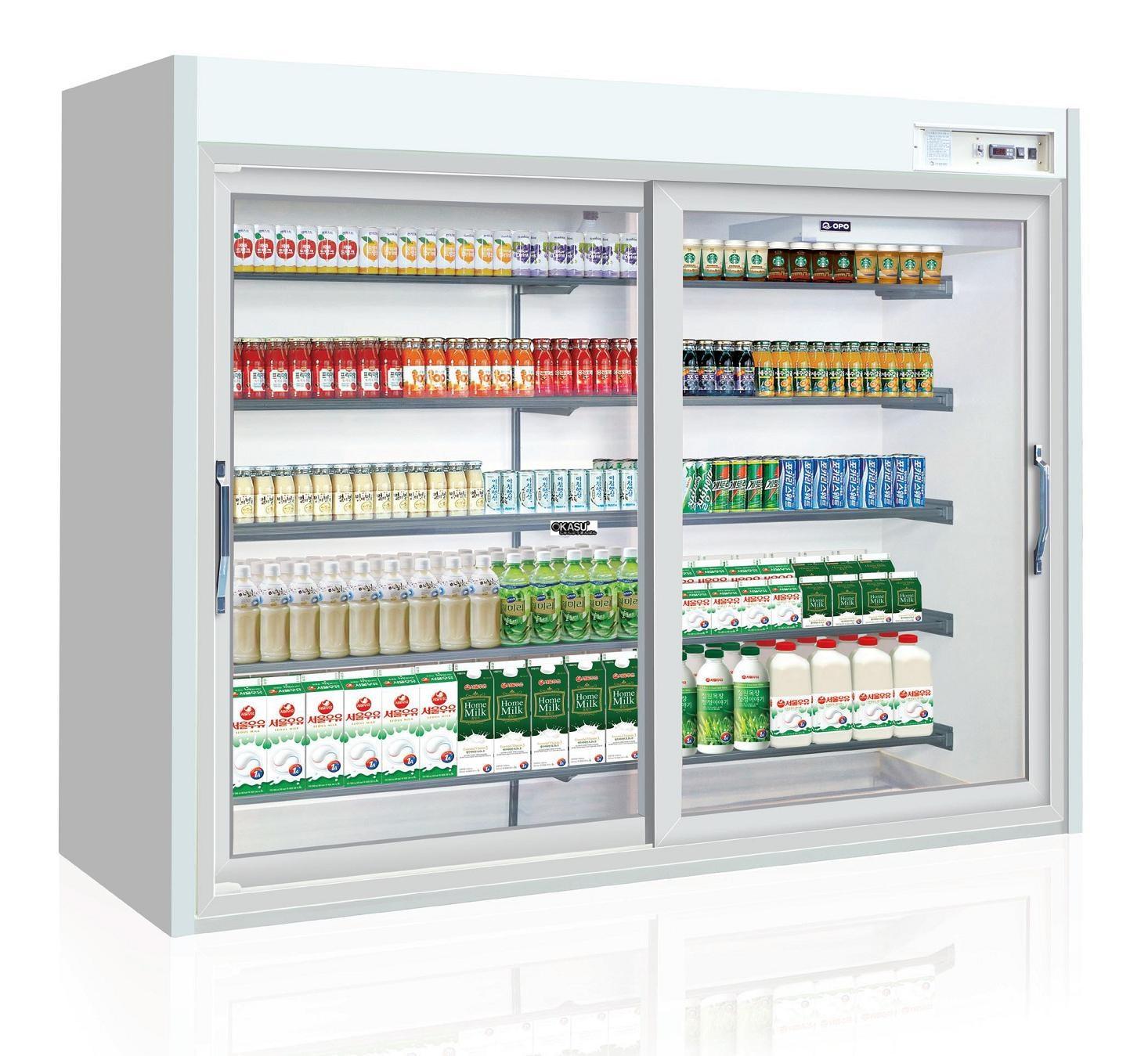 Tủ trưng bày sữa, nước uống cửa trượt OPO XPD5-LLD