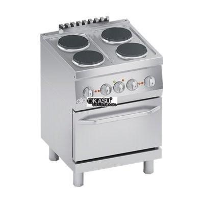 Bếp Âu điện 4 họng có lò nướng ATA K6ECU10FF
