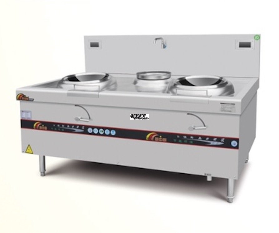 Bếp xào điện từ 2 họng OKASU OKS-11CE