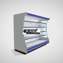 Tủ rèm mát trưng bày siêu thị OKASU OKS-12FP