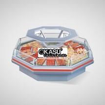 Tủ trưng bày thịt siêu thị OKASU OKS-11DZ
