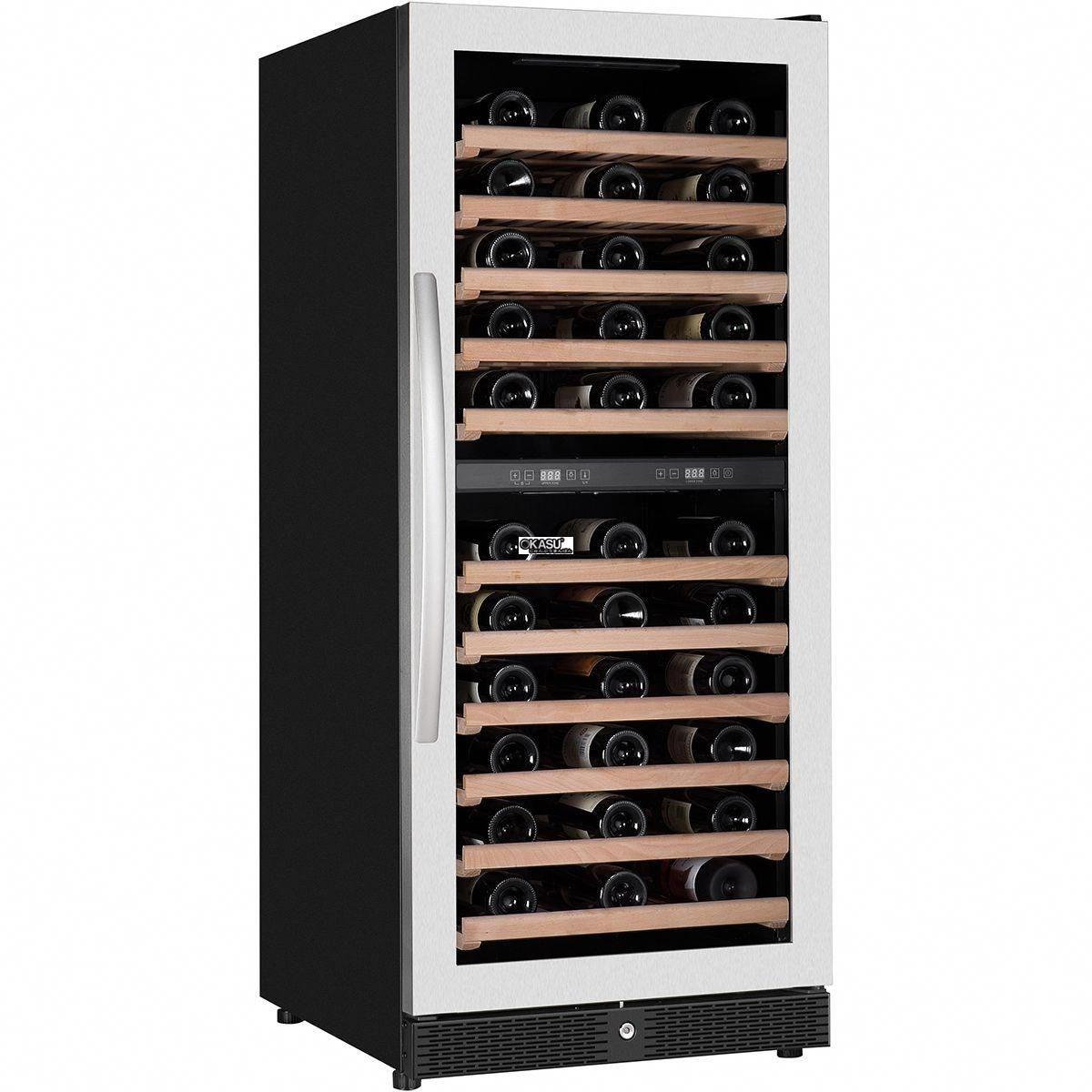 Tủ trưng bày và bảo quản rượu vang OKASU WLW-100DZ