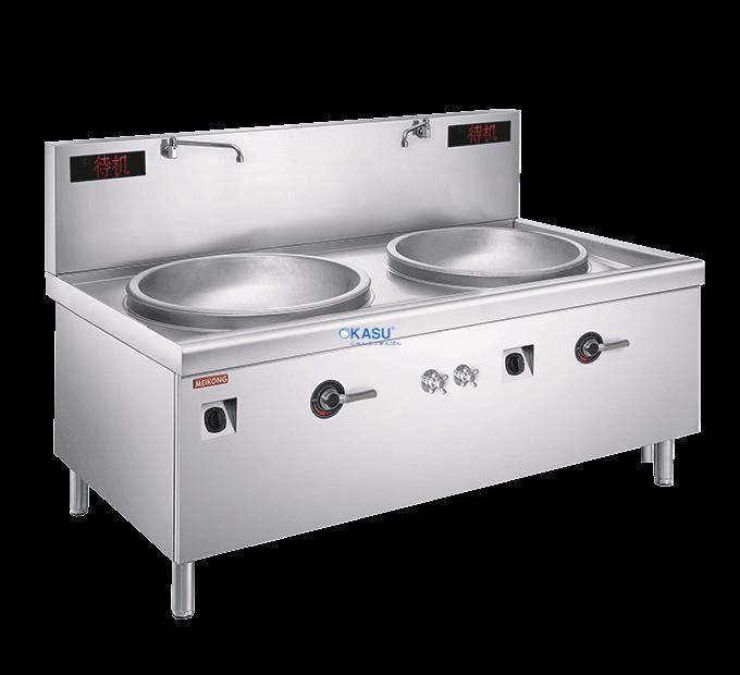 Bếp từ đôi lõm chảo xào trực tiếp OKASU EFC-1/3-8D-08