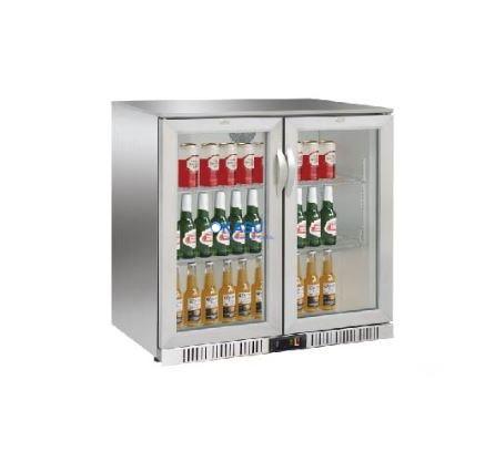 Tủ mát mini bar 2 cánh kính OKASU OKS208B