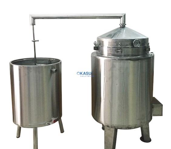 Nồi nấu rượu inox 100 kg/mẻ OKASU KS-NR100
