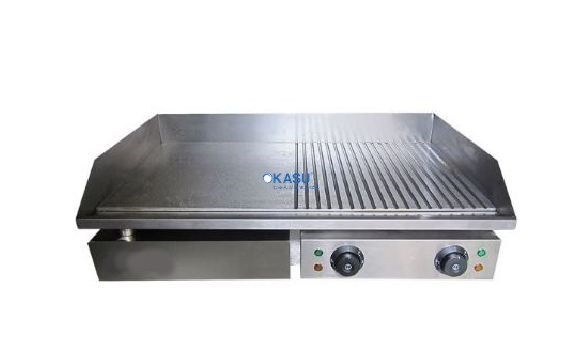 Bếp rán phẳng rãnh OKASU KS-GH822