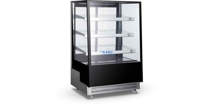Tủ trưng bày bánh kính vuông Okasu ARC-400L