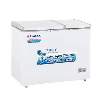 Tủ đông mát 2 cửa nắp đỡ Alaska BCD-3571