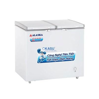 Tủ đông mát 2 cửa nắp đỡ Alaska BCD-4567N