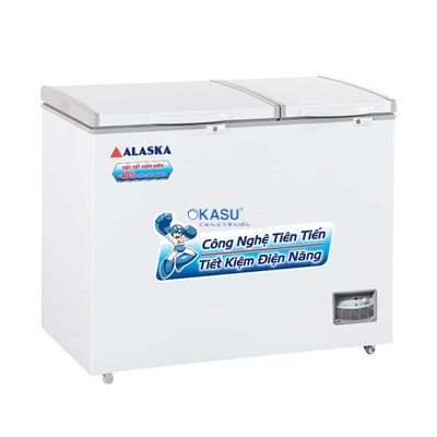 Tủ đông mát 2 cửa nắp đỡ Alaska BCD-6567N