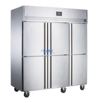Tủ đông mát 6 cánh inox Kolner NKCD1.6L6 (Lạnh trực tiếp)