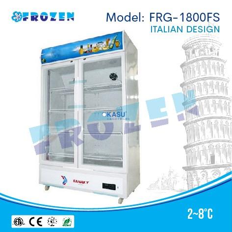 Tủ mát 2 cánh kính Frozen FRG-1800FS