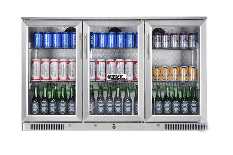 Tủ mát quầy bar mini 3 cánh kính OKASU SC-338FS - ảnh 1