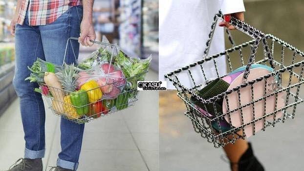 Giỏ xách siêu thị Inox OKASU OKA-GSB-031S - ảnh 1