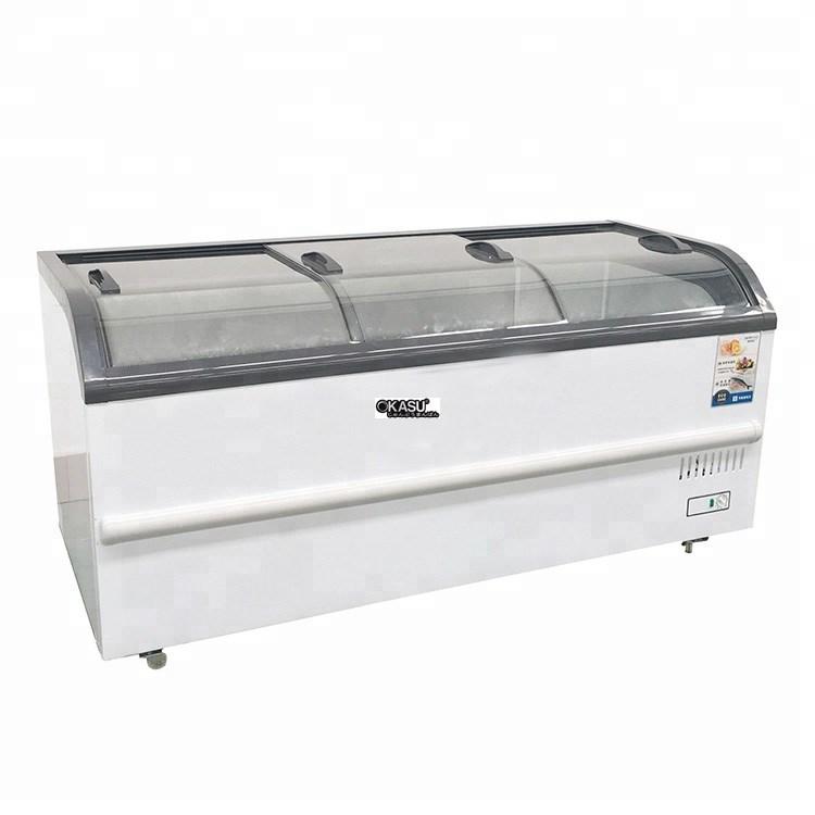 Tủ đông siêu thị kính cong OKASU SD / SC-510YD - ảnh 1