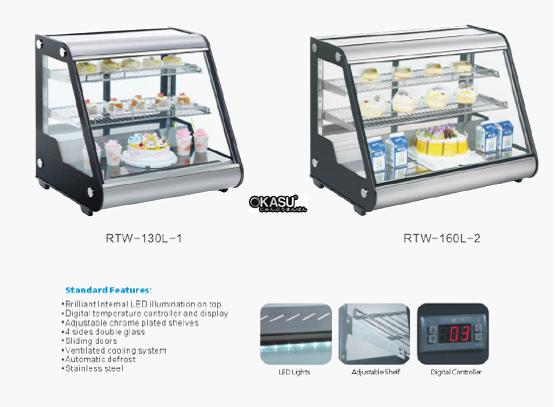 Tủ trưng bày bánh kem mini OKASU RTW-130L-2 - ảnh 6