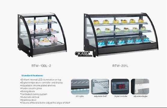 Tủ trưng bày bánh kem mini OKASU RTW-130L-2 - ảnh 1