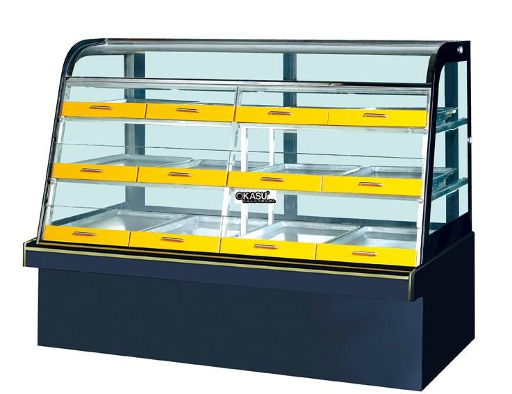 Tủ trưng bày bánh kem có ngăn kéo OKASU JQ-12V3 - ảnh 1
