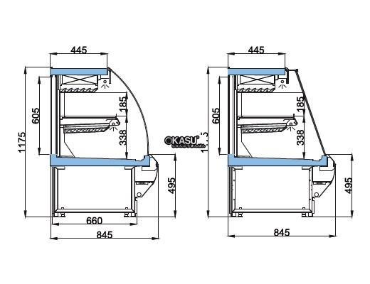 Tủ trưng bày thịt 2 ngăn OPO D1M1-12CF - ảnh 1